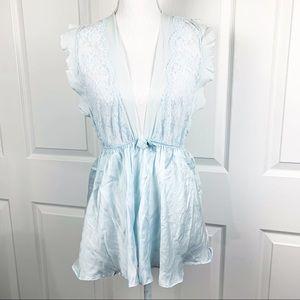 Victoria's Secret Blue Sleeveless Lace Lingirie